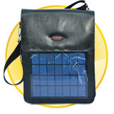 Black Solar Bag for Mobile Phone + 2000mAh