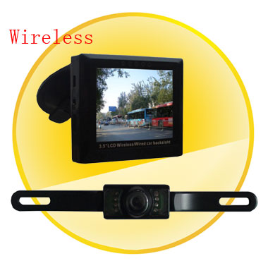 3.5 Inch LED Screen Wireless DVR with 4 Channels + CMOS Camera