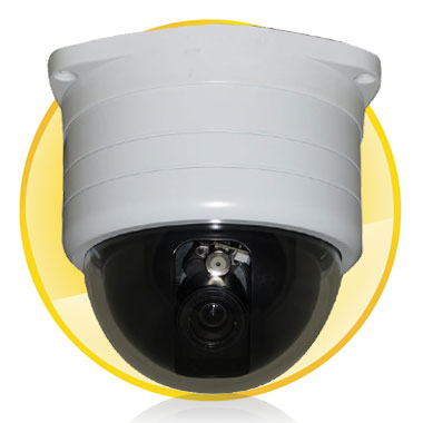 Synchronous Focus Mini Speed Dome Camera with Digital Signal Processor + 420TVL