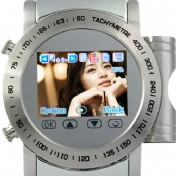 Stainless Steel Quad Band Watchphone + MP4